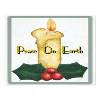 """Peace On Earth Invitation 4.25"""" X 5.5"""" Invitation Card"""