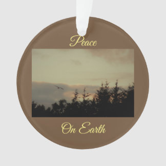 Peace on Earth Landscape Ornament