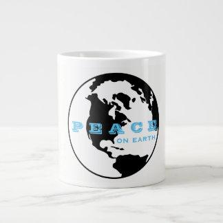 Peace on earth large coffee mug