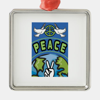 Peace on Earth Metal Ornament