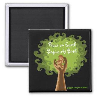 Peace on Earth...midwife Square Magnet