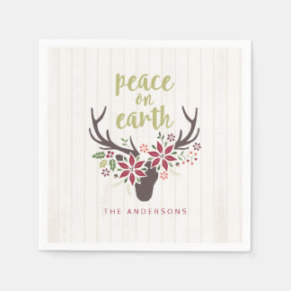 Peace on Earth Napkins Paper Serviettes