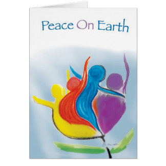 Peace on Earth notecard, painting by Brad Hines Card