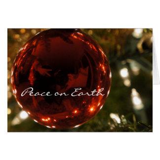 Peace on Earth Ornament card