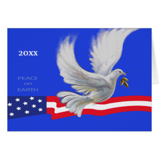 Peace on Earth. Patriotic Design Christmas Cards