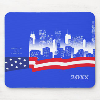 Peace on Earth Patriotic Design Gift Mousepads Mouse Pads