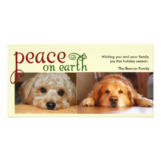 Peace on earth photo greeting card