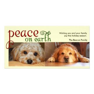 Peace on earth photo greeting card