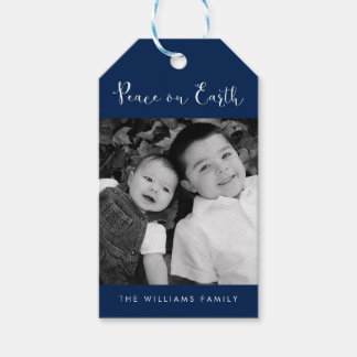 """Peace on Earth"" Photo Holiday Gift Tags"