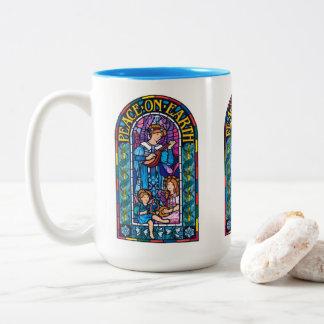 Peace-on-Earth Pre-Raphaelite Xmas ceramic mug
