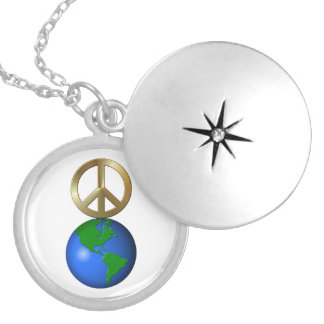 Peace on Earth Rebus Word Puzzle Custom Jewelry