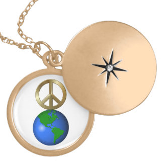 Peace on Earth Rebus Word Puzzle Custom Necklace
