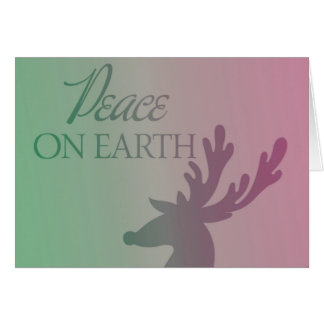 Peace On Earth Reindeer Greeting Card
