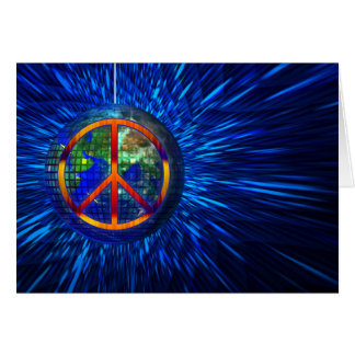 Peace on Earth Retro Peace Sign and Tie Dye Card
