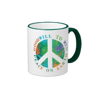 Peace on Earth Ringer Coffee Mug