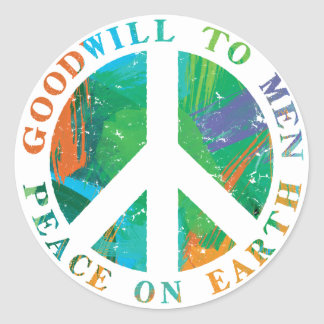 Peace on Earth Round Sticker