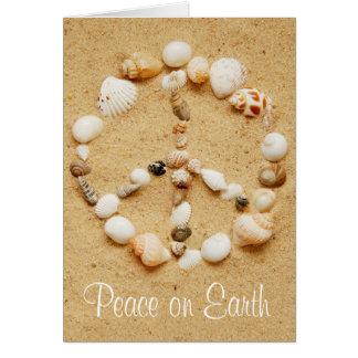Peace on Earth Seashell Peace Sign Card