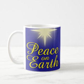 Peace on Earth Star Christmas Mug