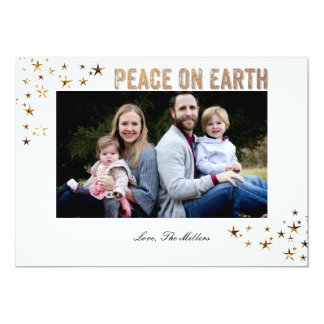 Peace on Earth Stars 13 Cm X 18 Cm Invitation Card