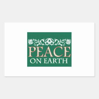 Peace On Earth Rectangle Sticker