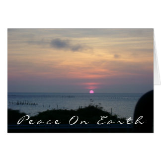 Peace on Earth Sunset Cards