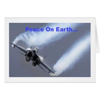 Peace On Earth...Through Air Superiority Card