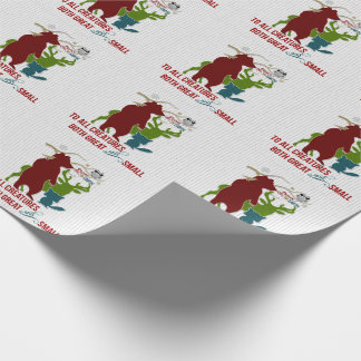 Peace on Earth to All Creatures Woodland Wrapping Paper