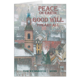 Peace on Earth - View of Alsace Village - France Greeting Card