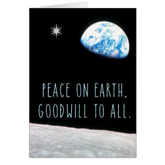 Peace on Earth with Earth and Star Card