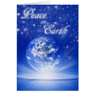 Peace On Earth World Globe by Jitka Greeting Card