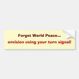 peace on the road bumper sticker