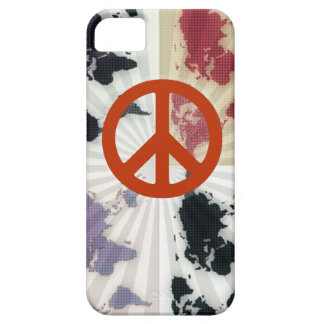peace on world map iPhone 5 cover
