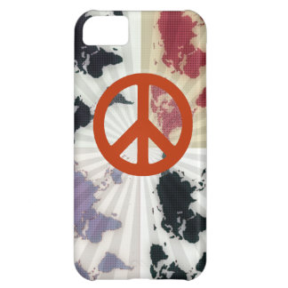 peace on world map iPhone 5C case