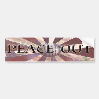 Peace-out bumper sticker