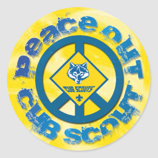 Peace Out Cub Scout Sticker