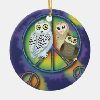 Peace Owl~ Ornament