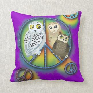Peace Owl~pillow Cushion