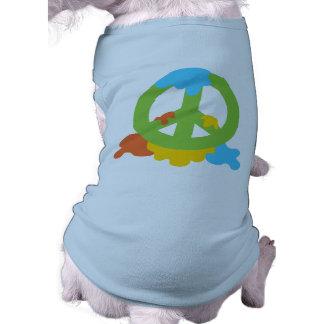 Peace Paint Sleeveless Dog Shirt