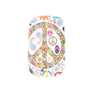 Peace & Paisley Collage Minx Nail Art