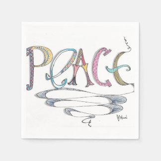 Peace Paper Napkins Paper Napkin