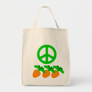 Peace (Peas) and Carrots Tote Grocery Tote Bag