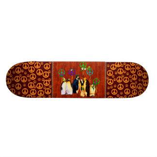 Peace Penguins Custom Skateboard