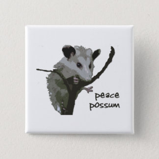 Peace Possum 15 Cm Square Badge