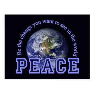 Peace postcard, customize postcard