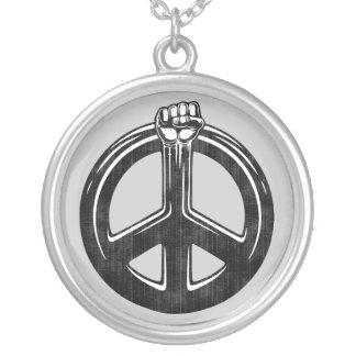 Peace Power! Round Pendant Necklace