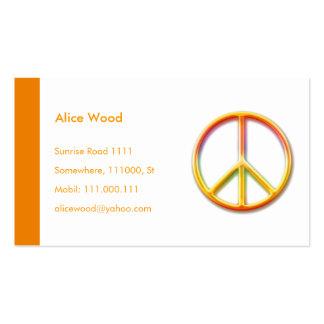 PEACE Profile Card Business Card Template