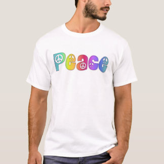 Peace Rainbow Colors T-Shirt, S M  L XL 1X 2X 3X T-Shirt