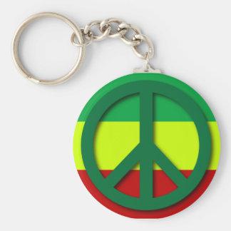 Peace Rasta Flag Key Ring