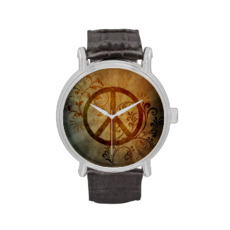 peace ray burst wrist watches
