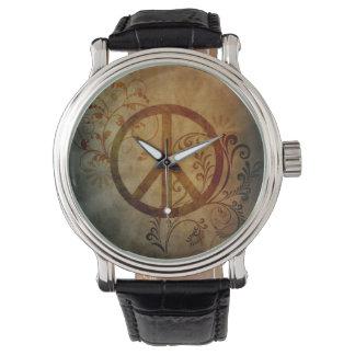 peace ray burst wristwatch